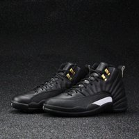 Wholesale Dark Wolf - 2018 Air Retro 12 XII Basketball Shoes Ovo White Flu Game GS Barons Wolf Grey Gym Red Taxi Playoffs French Blue Sneaker Shoes