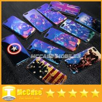 Wholesale Marvel Iron Man Iphone Case - Luxury Laser Blue-ray Marvel Avengers Captain American Shield Iron Man TPU Soft Cover Case for iPhone 5 5S 5SE 6 6S Plus