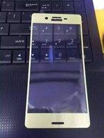 xperia l36h toptan satış-3D Kavisli Kenar Tam Kapak Temperli Cam Filmi Ekran Koruyucu Sony Xperia XA X XP Koruyucu Film + Temizleme Mendilleri