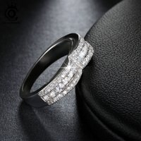 Wholesale Princess Cut Ring Days - ORSA Jewels Charming Mask Design Ring with 12 Pieces Princess Cut Cubic Zirconia Top Quality Ring for Women OR79