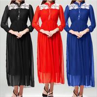 UK wedding dress line sheath - Arab Muslim A line kaftan chiffon wedding dresses stunning sequins beaded with long sleeves floor length gowns 2017