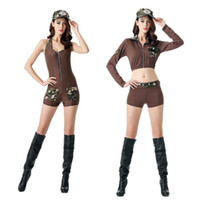 Wholesale Sexy Policewoman Costume - The new 2016 sexy policewoman costume role-playing vest camouflage uniform temptation photography