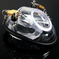 Wholesale Clear Male Chastity Device - Male Chastity Device,Cock Cages,Men's Virginity Lock,Penis Ring,Penis Lock,Adult Game,2 Cock Ring,Chastity Belt,Clear