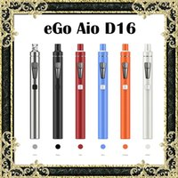 Wholesale Slim Ego Tank - Original Joyetech eGo Aio D16 Kit Upgraded eGo Aio Kit Slimmer With BF SS316 0.6ohm 1500mAh Battery 2ml Tank