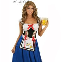 Wholesale Maid Service Anime - Wholesale-Maid Service Uniforms Temptation Beer Girl Princess Dress Sexy Clothes Suit Costumes Halloween Oktoberfest Fancy Dress Cosplay