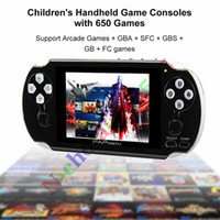 Wholesale Video Camera Hdmi - PAP Gameta II Plus 4GB HDMI 64Bit Built-In 650 Games MP4 MP5 Video Game Consoles Portable Handheld Game Player TV Out Camera E-Book PVP Pxp3