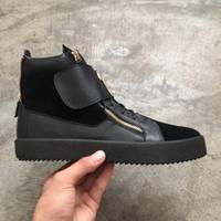 hakiki deri yılan derisi toptan satış-Sıcak satış Ücretsiz kargo yüksek kalite erkekler kadınlar düz ayakkabı yılan derisi hakiki deri yüksek top rahat ayakkabılar sneakers