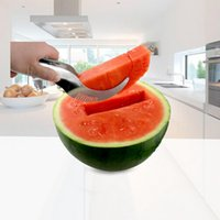 Wholesale Cut Watermelon - New Watermelon Corer Cantaloupe Cutting Seeder Slicer Scoop For Fruit Tools Stainless Steel Fruit Faster Melon Cutter Server