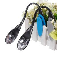 Wholesale Led Clip Booklight - High Quality Mini Flexible Clip On Bright Booklight Desk Light LED Travel Book Reading Lamp White Light H1172