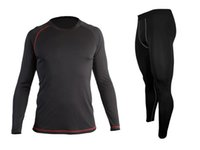 Wholesale Cheap Men Tights - Wholesale-Cheap New Mens Moisture Wicking Quick Dry BaseLayer Long Sleeve Tops Shirt Tight Pants Compression Running Set