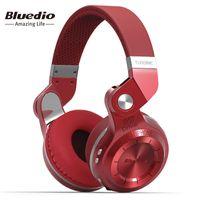 Wholesale T2s Headphone - Bluedio T2S(Shooting Brake) Bluetooth stereo headphones wireless headphones Bluetooth 4.1 headset over the Ear headphones