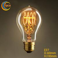 Wholesale Carbon Lamp - led vintage Edison Light Bulb LED light bulb E27 Vintage Squirrel 40W fireworks carbon filament antique lamp lights bulbs