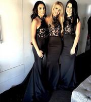 Vestido negro largo halter