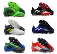 Wholesale Messi Football Boots - New arrival 2017 cheap blackout soccer cleats ACE 17.1 FG high top football boots new mens soccer shoes messi shoes outdoor gold purecontrol
