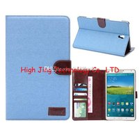 Wholesale Galaxy S2 Cover Card - Jeans Case for Samsung Galaxy Tab S 8.4 T700 Tab S2 T715 tablet wallet cover With Card Holders Cover