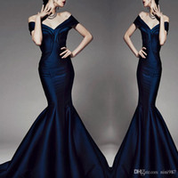 Wholesale Closed Neck Evening Gown - High quality Royal blue Mermaid Evening Party Dresses Evening 2017 Skirt Sexy Neck Zipper Design Close fitting evening gowns