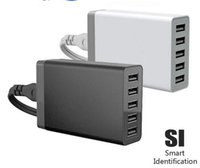 Wholesale Multiple Usb Adapters - 2016 Newest 8.0A output adapter multiple desktop 5 USB 5V travel rapid home chargers for all smart phone