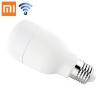 Wholesale Originals Umbrellas - 100% Original Xiaomi Yeelight LED Smart Bulb Smartphone App WIFI Remote Control Light 8W White Color Mi Light white light