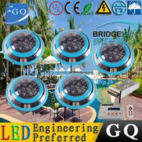 Wholesale Small Wall Led - 5pcs RGB DMX Underwater Smaller Wall mounted LED pool lights piscina for Pools and Spas + DMX512 Controller + Power Supply kit