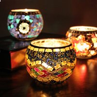 Wholesale Ornaments Tea Light Candle - handmade 2017 NEW High quality glass candlestick candle Ice Wedding decoration fashion Romantic plot ornaments Free shipping