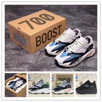 Wholesale Real Size Women - 2017 High Quality Wave Runner 700 Real Boost Womens Mens Running Shoes Design By Kanye West Season5 700s Sneakers Men size 36-46