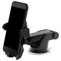 Wholesale car window holder online - Universal Mobile Car Phone Holder Degree Adjustable Window Windshield Dashboard Holder Stand For All Cellphone GPS Holders