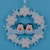 Wholesale Penguin Christmas Decorations - Maxora Penguin Family Of 2 3 4 5 Resin Hang Christmas Ornaments With Snowflake As Craft Souvenir For Personalized Gifts or Home Decor
