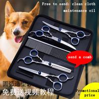 Wholesale Groom Teddy - Free fast shiping Pet beauty scissors Dog shearing Teddy Pet Scissors Set Pet beauty