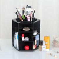 Wholesale Eco Cosmetic Boxes Wholesale - HOT ! 360 degree cosmetics rotary storage box Princess cosmetics box storage box+gift