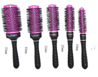 Wholesale Hair Rolling Irons - Radial Hair Brush Purple Professional Use A round brush wire aluminum tube round brush iron roll round brush hair professional cylinder