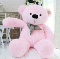 Wholesale giant teddy bear for sale - 39 quot Stuffed Giant CM Big Pink Plush Teddy Bear Huge Soft Cotton Doll Toy