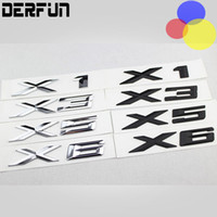 Wholesale Carbon Fiber Bmw Emblems - Car styling 3D ABS Plating Smooth & Glossy car badge sticker Decoration Accessories for BMW X1 X3 X5 X6 E83 F25 Car Emblem