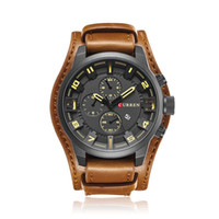 Wholesale Wholesale Super Luxury Watches - Super Christmas Gift for Men Hot Fashion Casual Sport Quartz Luxury Watches Mens Leather Wristwatches Mens Watches