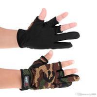 Wholesale Lure Men - Top Quality Three Fingerless Fishing Gloves Anti-Skid Fingerless Fishing Gloves Lure Gloves Hunting Gloves Waterproof