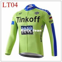 2015 tinkoff green Cycling Jerseys Autumn Long Sleeve Cycling Jerseys High-performance High Quality Racing Jersey Vêtement de vélo