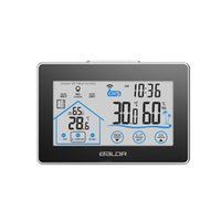 Wholesale Digital Hygrometer Clock - Baldr Home LCD Weather Station Touch Button In outdoor Temperature Humidity Wireless Sensor Hygrometer Clock Digital Thermometer