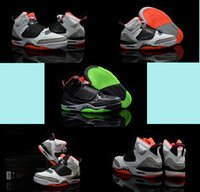 Wholesale Mars Sons - Free Shipping Son of Mars Low Cut Shoes Retro 4 Black Gym Red Cool Grey White Flash Wolf Grey Mens Basketball Shoes Sneakers