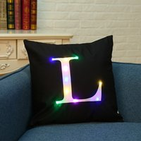 LED luci cuscino cuscino cuscino copre lettera flash Boster casi cuscino quadrato 40cm Sofa Throw decorazione per la casa Pillowcase per il Natale