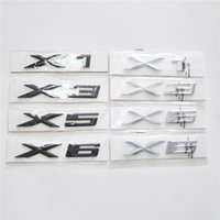 x6 dekoration großhandel-Neue englische Logo Auto Aufkleber für BMW X-Serie X1 X3 X5 X6 Auto Aufkleber für BMW 1 3 5 7