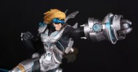 Wholesale Ezreal Figure - LOL Action Figures Game Anime LOL Pulsefire Ezreal PVC Action Figure Collectible Model Toy SIZE 30cm FREE SHIPPING