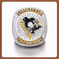 Wholesale Diamond Ring Three Stones - NewCollection Edition Christmas Gift Sports Series Jewelry NHL Stanley Cup Ring 2016 Pittsburgh Penguins Championship ring
