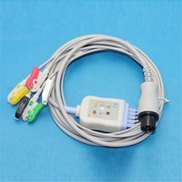 Wholesale Monitor Cable Ecg - Patient Monitor ECG Cable Generic AAMI 5 Leads with IEC Clip 6Pins Plug Good Quality CMD203A
