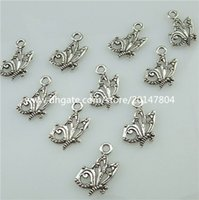 Wholesale Insects Charms - 13547 100PCS Antique Vintage Silver Tone Alloy Mini Insect Animal Butterfly Pendant Charms For DIY Jewelry Making