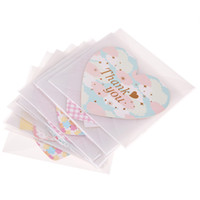 Wholesale Mothers Greeting Cards - 12 Creative Parchment Paper Folded Greeting Cards Thanks Giving Day Christmas Birthday Valentine's Mothers' Day cards E5M1