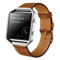 Wholesale Wholesale Leather Straps For Bracelets - Wholesale-Feitong New Arrival High Quality Luxury Genuine Leather Watch band Wrist strap For Fitbit Blaze Smart Watch