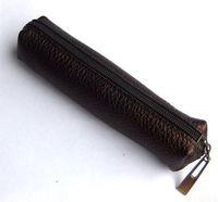 Wholesale Leather Deerskin Bag - Wholesale-first layer deerskin leather pencil bag   stationery bags   handmade leather pencil bag