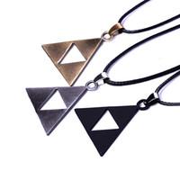 ingrosso regali di zelda-Triforce Zelda Collana a due triangoli La leggenda di Zelda Collana Triforce Pendan Lega Triangolo Gioielli per film Regalo di Natale DHL