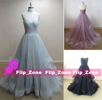 Piping Ruffles Tulle 2016 A-Line Abendkleider mit Sweetheart Zipper Zurück Sweep Zug Schwarz Plus Size Elie Saab Prom Party Formal Kleider