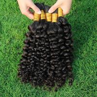 extensions de cheveux populaires achat en gros de-Épaisse extrémité crépus bouclés en vrac tresse cheveux Populaire Kinky Curl extensions indiennes de cheveux humains pour les femmes noires aucune pièce jointe en vrac de cheveux humains