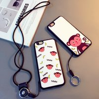 Wholesale Iphone Silicone Case Monkey - For iPhone 6 6plus case cute monkey soft case brand new material with adjustable detachable neck lanyard GEL hanging neck strap lanyard hold